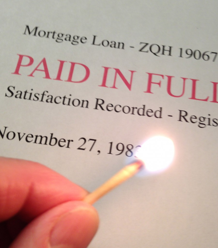 The mortgage burning