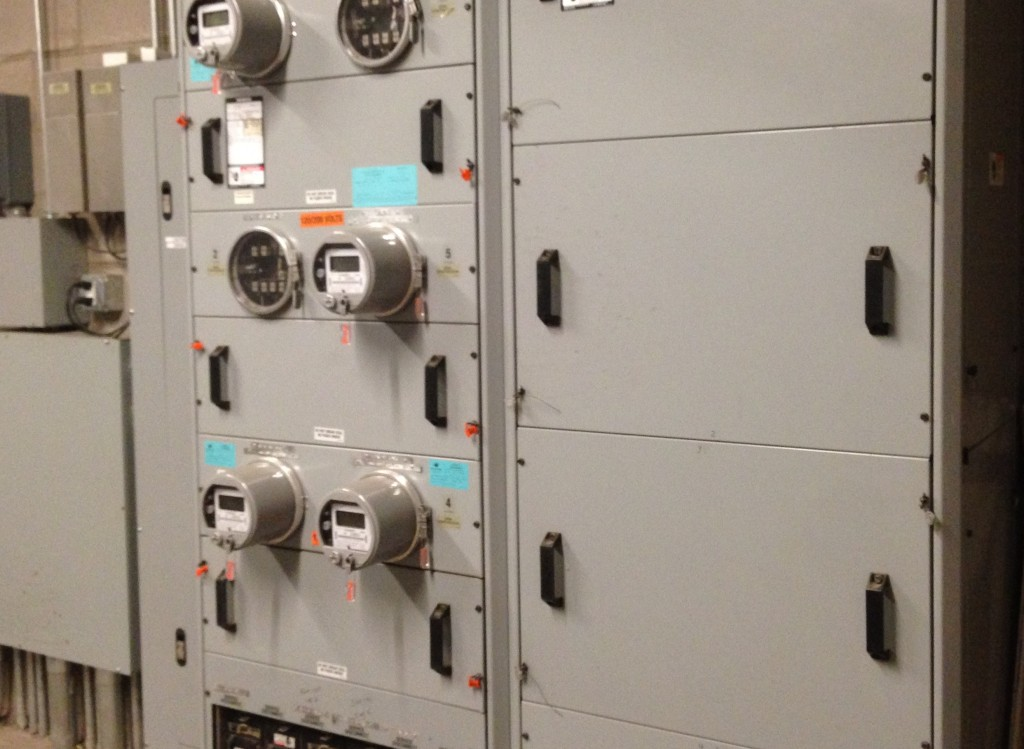 Utility meter panel